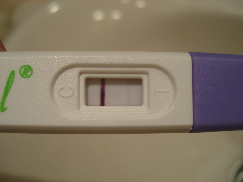 a partir de cuando da positivo un test de embarazo en orina