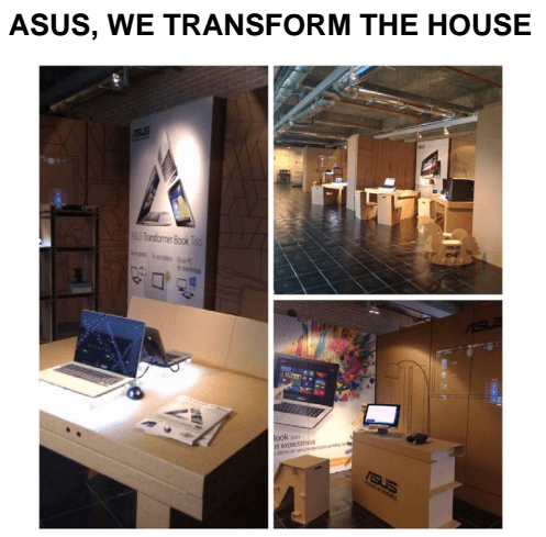 "Asus ""We transform the house"""