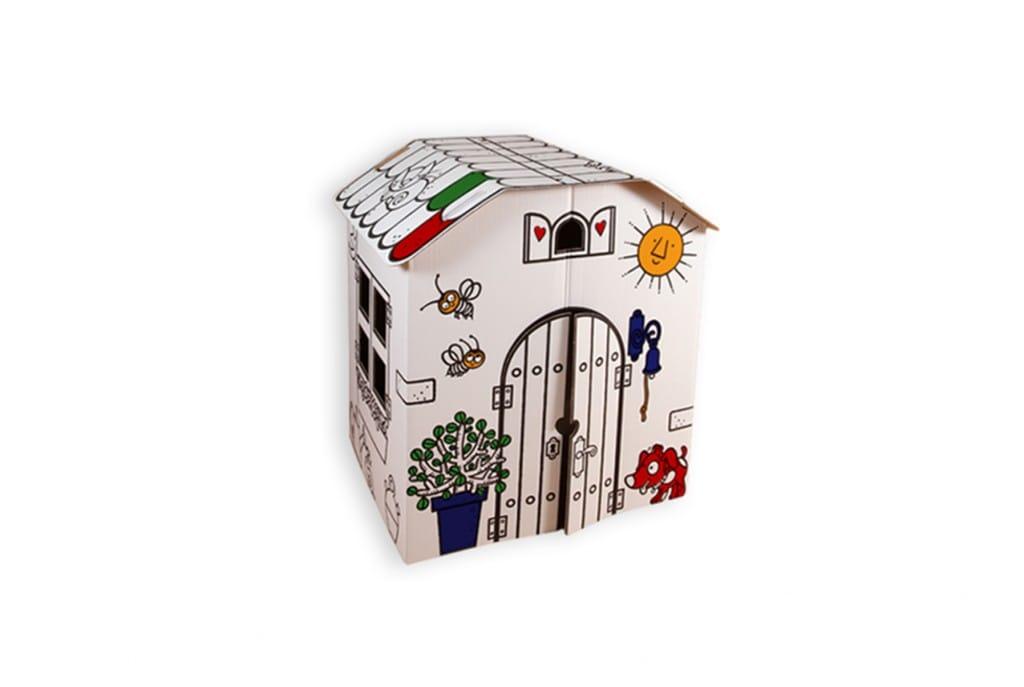 Petitaixa: la Masía, casita de cartón