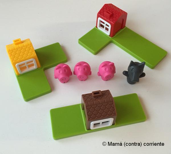 Los Tres Cerditos, Smart Games (piezas)