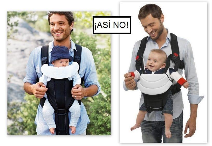 No lleves a tu bebé mirando hacia fuera