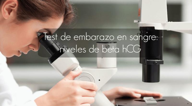 Test de embarazo en sangre: niveles beta hCG