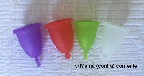 Copa menstrual tamaños y terminaciones