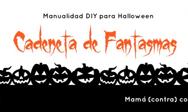 Manualidad de Halloween para niños: cadeneta de fantasmas (¡súper sencilla!)
