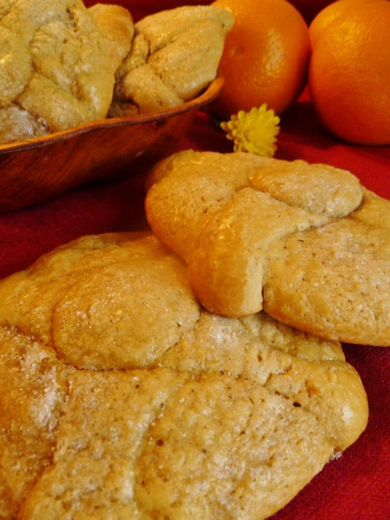 Galletas suaves de naranja - Pan de muertos