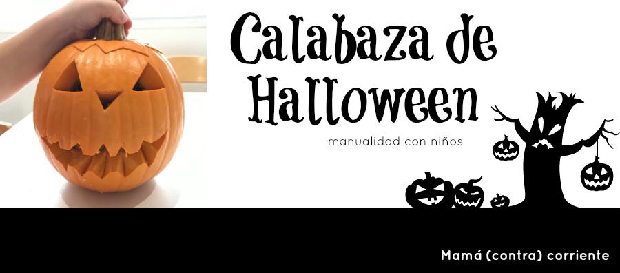 Manualidad DIY niños para Halloween: calabaza terrorífica