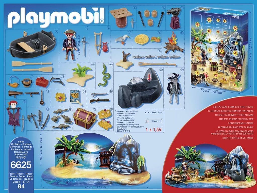 "Calendario de Adviento de Playmobil ""Piratas"" - detalle de las figuras diarias"