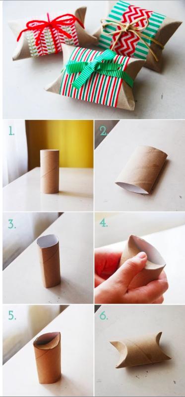 Calendario de Adviento con paquetitos de papel higiénico