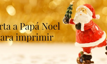 Carta a Papá Noel para imprimir [descargable gratuito]