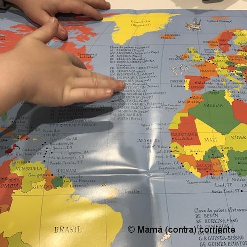 Explicando Acción de Gracias con un mapamundi