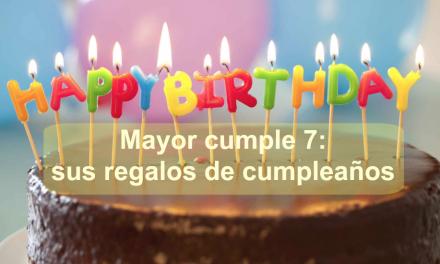 Mayor cumple 7: sus regalos de cumpleaños