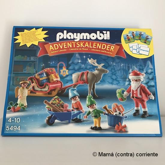 "Calendario de Adviento Playmobil ""Papá Noel Centro de Embalaje"" - caja"