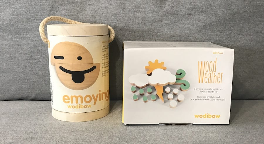 Emoying y WoodWeather: juguetes de madera para jugar en la nevera