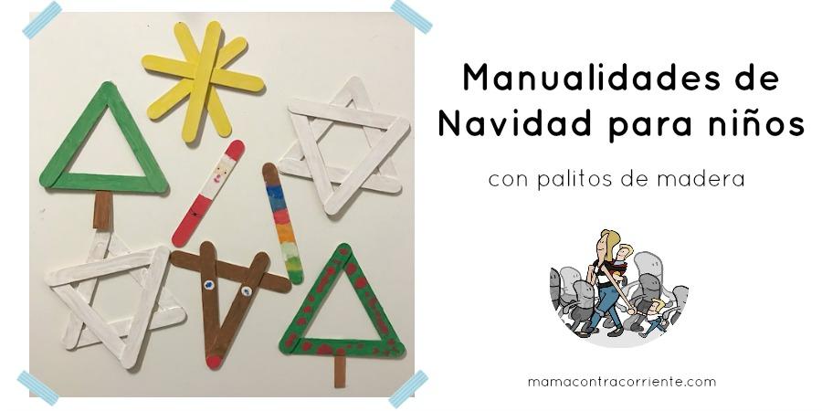 Manualidades de navidad para ni os con palitos de madera - Manualidades de navidad para hacer en casa ...