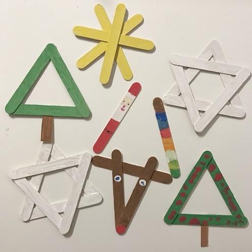 Manualidades de Navidad para niños con palitos de helado