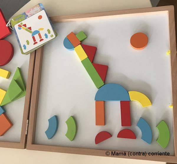 Magnetic Shapes Box, de AndreuToys plantilla jirafa