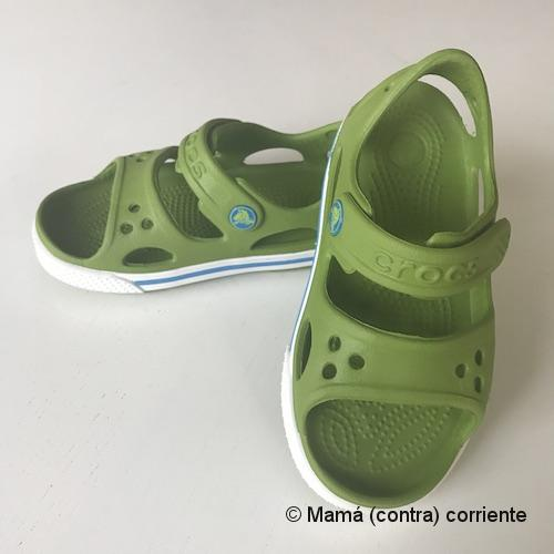 Crocs Crocband II Sandal Kids (color verde)