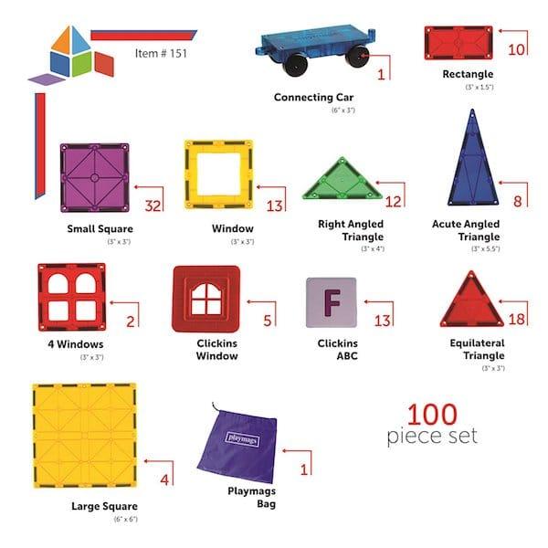 Playmags - piezas que lleva nuestro set