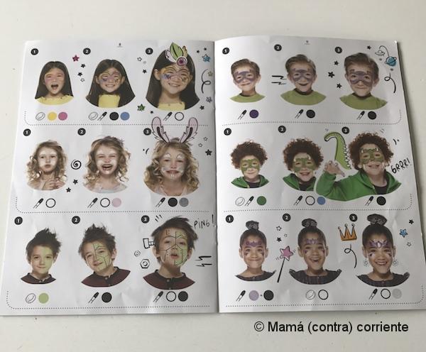 Pintura facial Snazaroo (libro de ideas)