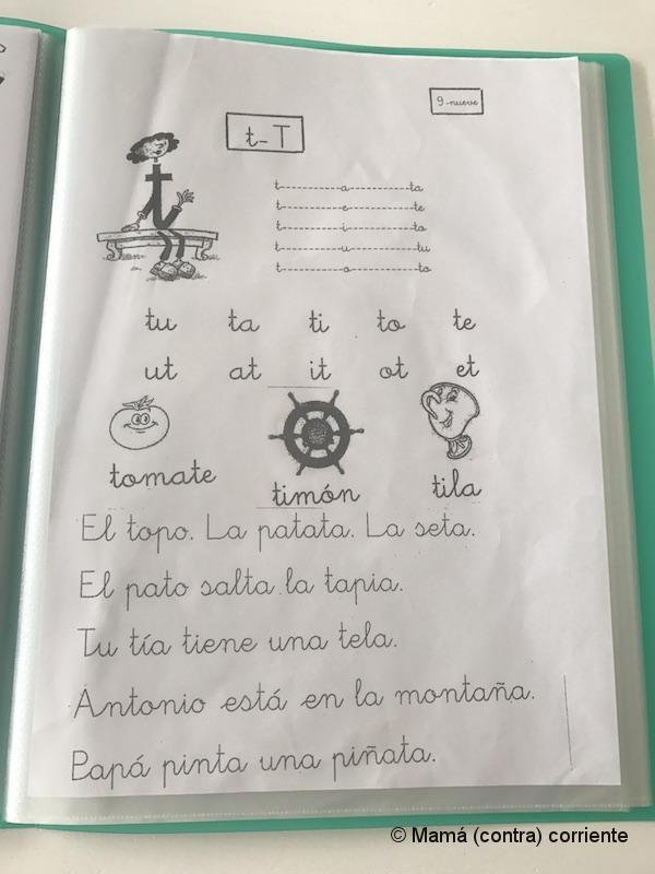 Letra ligada (ejemplo aprender a escribir y leer)