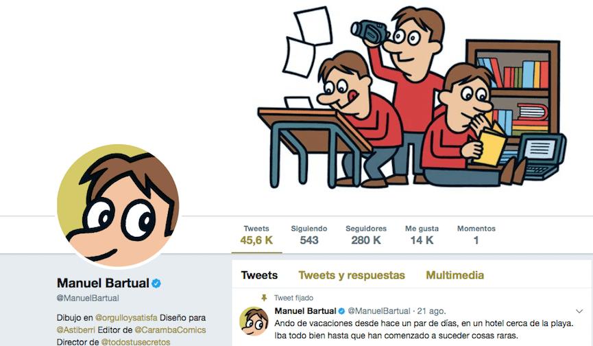 Manuel Bartual hilo de Twitter