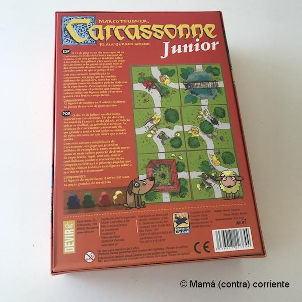 Carcassonne Junior (reverso de la caja)