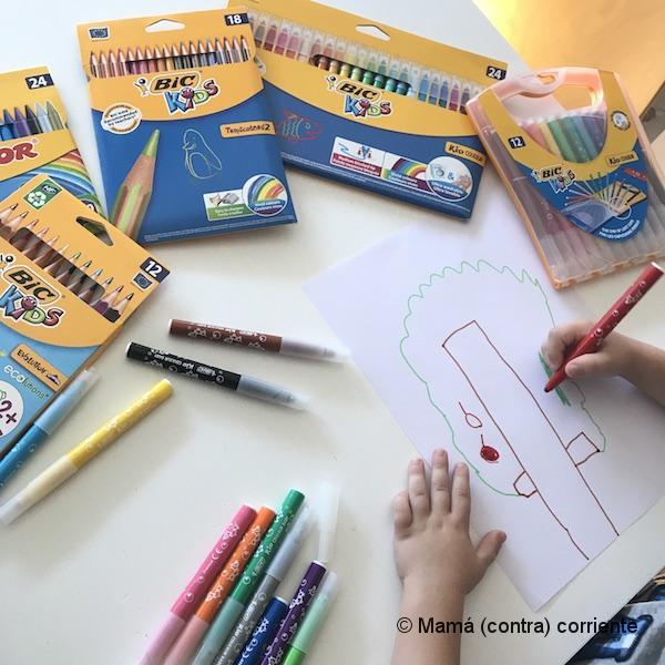 Pintando con BIC Kids