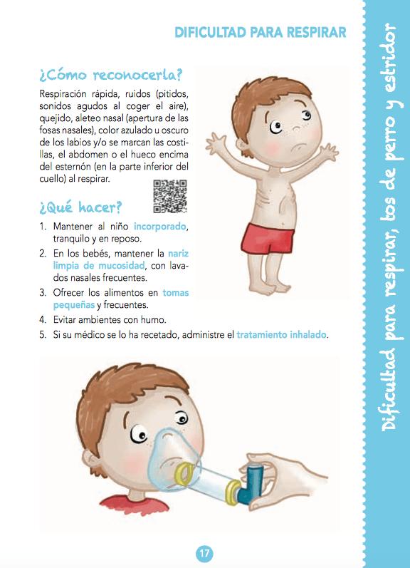 Primeros auxilios en niños - dificultad para respirar