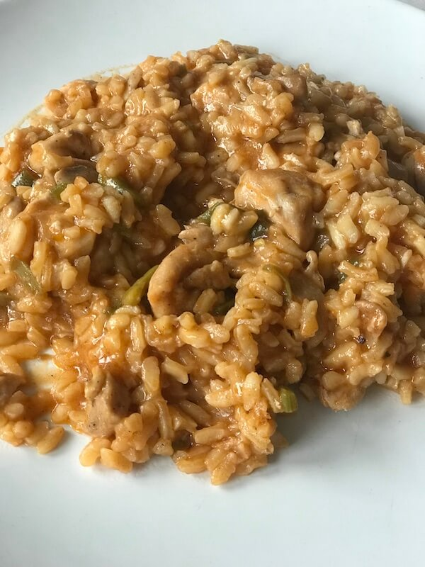 Wetaca - Arroz meloso con pollo y verduras