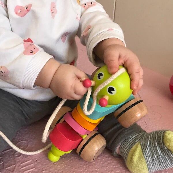 Arrastre Gusanito de Goula (bebé 7 meses)