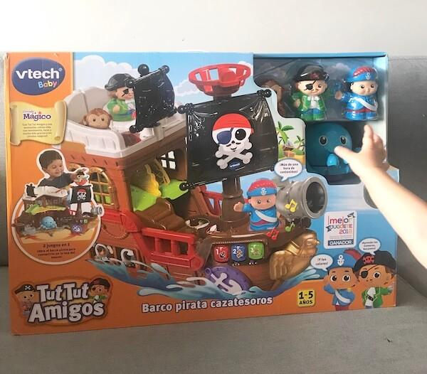 Barco Pirata Cazatesoros Vtech caja (delante)