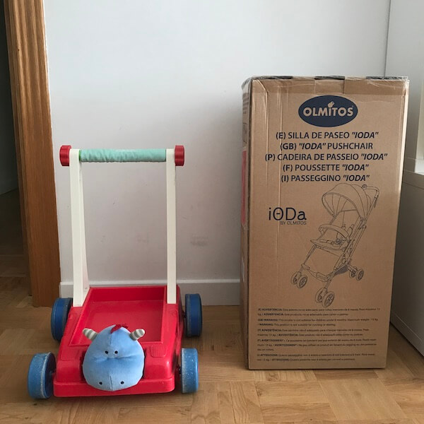 Ioda silla de paseo de Olmitos - embalaje