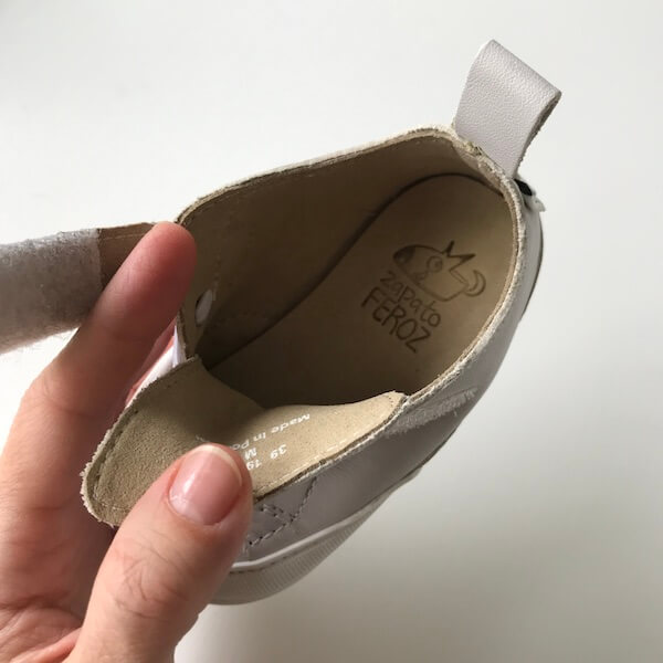 Zapato FEROZ Turia blanco (apertura)